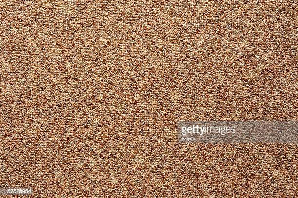Pared a pared Alfombra de bucle tela marrón de manantial patrón Encuadre completo