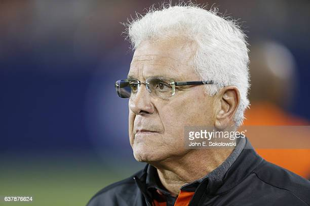 Wally Buono head coach of the BC Lions on the sidelines during a CFL game at BMO field on August 31 2016 in Toronto Ontario Canada BC defeated...
