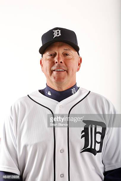 Wally Joyner of the Detroit Tigers poses for a photo during the Tigers' photo day on February 28 2015 at Joker Marchant Stadium in Lakeland Florida
