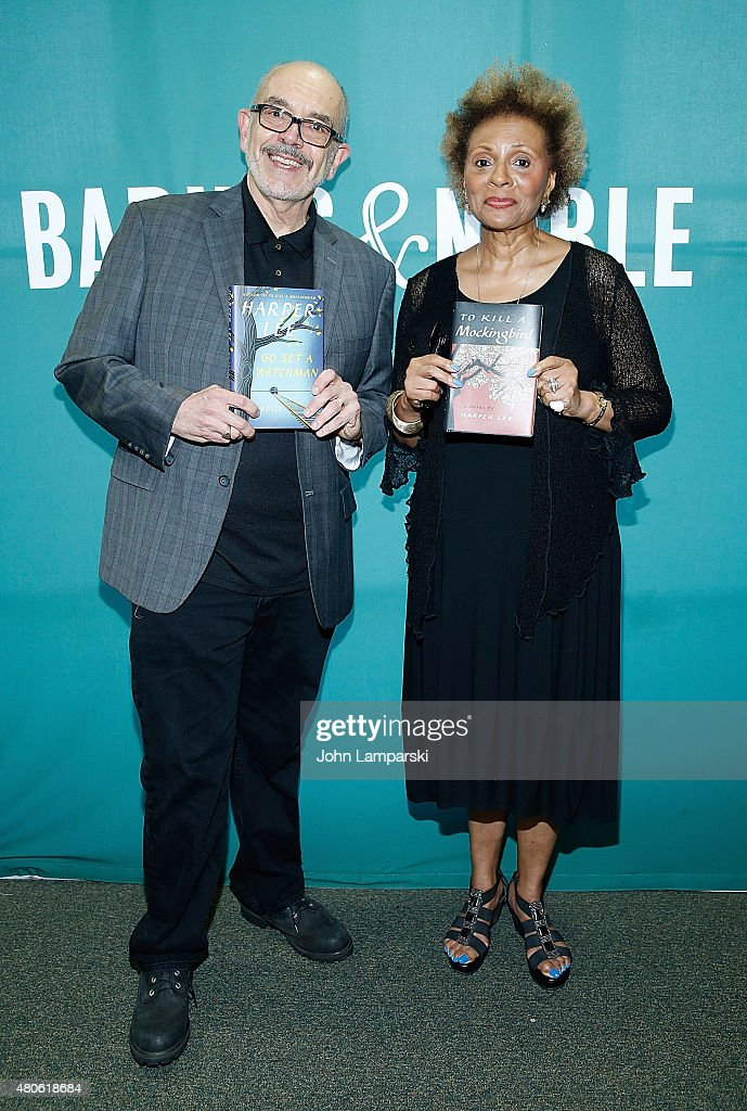 Wally Lamb (L) and Leslie Uggams attend Harper Lee celebration with Wally Lamb and Leslie Uggams in conversation with Bill Goldstein at Barnes & Noble Union Square on July 13, 2015 in New York City.