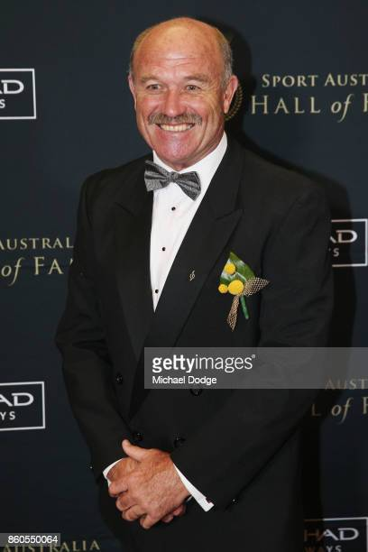 Wally Lewis arrives at the Sport Australia Hall of Fame Annual Induction and Awards Gala Dinner at Crown Palladium on October 12 2017 in Melbourne...