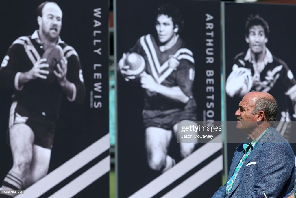 Wally Lewis looks on during the Rugby League Hall of Fame and Immortals Announcement at Sydney Cricket Ground on March 19, 2018 in Sydney, Australia.