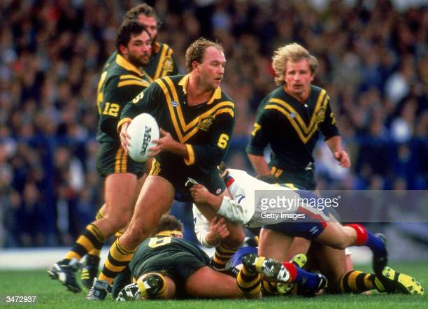 Wally Lewis of Australia in action during a Rugby League Test match between Great Britain and Australia held in London United Kingdom Australia won...
