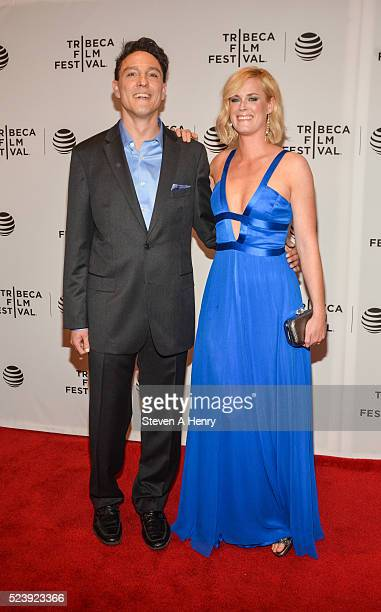 Wally MarzanoLesnevich and Abigail Hawk attend the 'Almost Paris' premiere during the 2016 Tribeca Film Festival at Chelsea Bow Tie Cinemas on April...