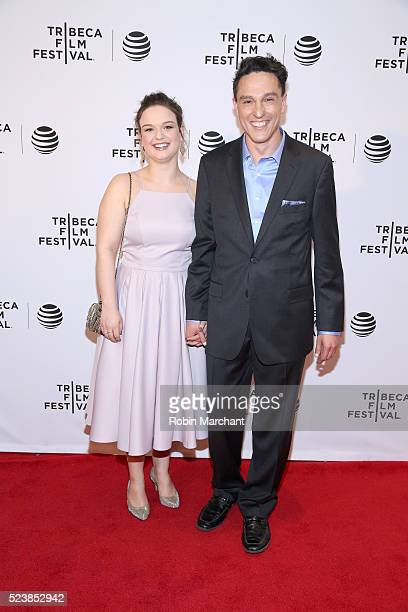 """Wally Marzano-Lesnevich and Lindsay Adkins attend """"Almost Paris"""" Premiere - 2016 Tribeca Film Festival at Chelsea Bow Tie Cinemas on April 24, 2016..."""
