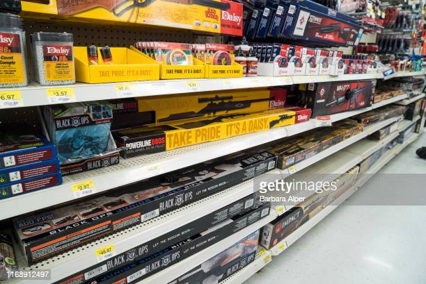 Walmart in Fort Worth selling a variety of rifles BB's and ammunition Texas 26th June 2015