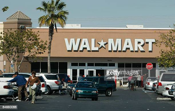 WalMart store is seen on February 5 2009 in Miami Florida WalMart the world's largest retailer beat Wall Street's forecast when January samestore...