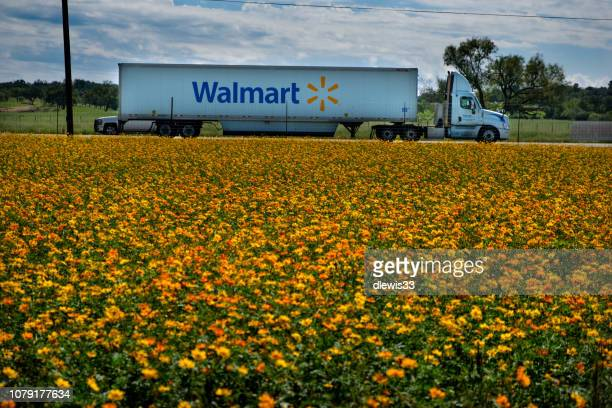 walmart truck - wal mart stock pictures, royalty-free photos & images