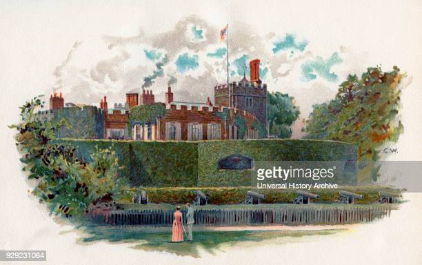 Walmer Castle Walmer Kent England A 16th century artillery fort originally constructed by Henry VIII From The Century Edition of Cassell's History of...