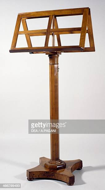 Walnut book stand Italy 19th century