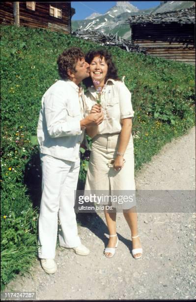 Walo Lüönd mit Ehefrau Eva-Maria Bendig 1981