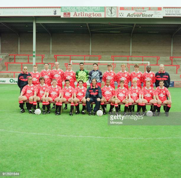 Walsall FC Pre Season Photocall 12th August 1992 Football Team Squad Walsall FC left to right back Tom Bradley Scott Ollerenshaw Kevin MacDonald...