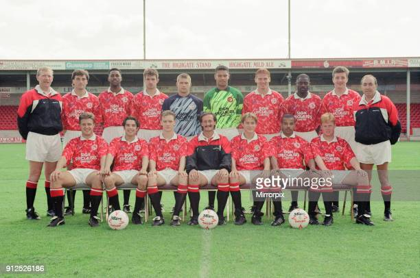 Walsall FC Pre Season Photocall 30th July 1993 Football Team Squad Walsall FC Back lr Eric McManus Mike Cecere Karl Lightbourne Stuart Ryder James...