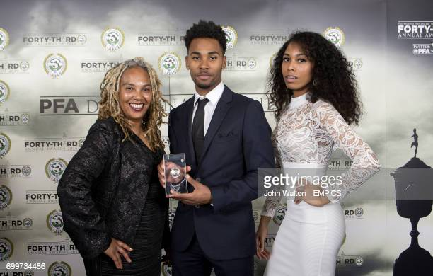 Walsall's Rico Henry with his PFA League One Team of the Year Award during the PFA Awards at the Grosvenor House Hotel London