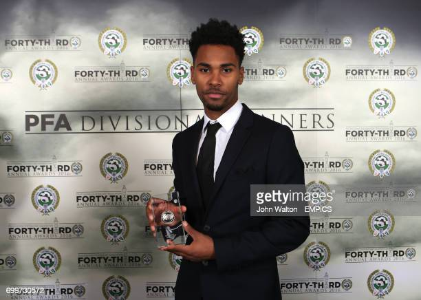 Walsall's Rico Henry with the PFA League One Divisional Award 2016 during the PFA Awards at the Grosvenor House Hotel London