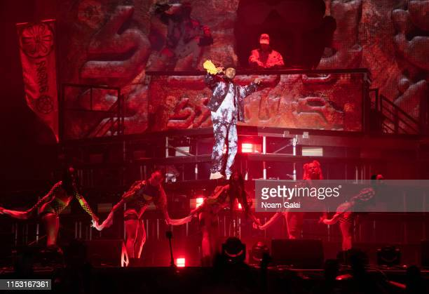Walshy Fire and Diplo of Major Lazer perform at the 2019 Governors Ball Festival at Randall's Island on June 01, 2019 in New York City.