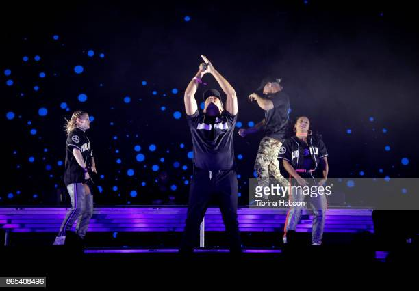 Walshy Fire and Diplo of Major Lazer perform at the Lost Lake Music Festival on October 22 2017 in Phoenix Arizona