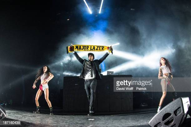 Walshy Fire from Major Lazer performs at Les Inrocks Festival at l' Olympia on November 6 2013 in Paris France