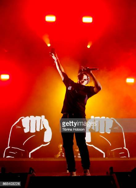 Walshy Fire of Major Lazer performs at the Lost Lake Music Festival on October 22 2017 in Phoenix Arizona