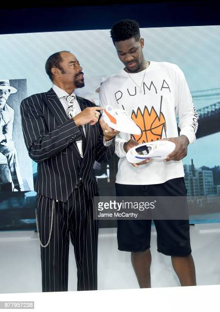 d73b25ab2af36f Walt  Clyde  Frazier and Deandre Ayton attend the PUMA Hoops HQ kickoff  where Walt