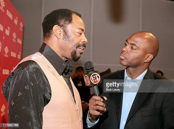 Walt 'Clyde' Frazier and ET's Kevin Frazier during PUMA and Blender Magazine Present Ludacris and Walt 'Clyde' Frazier to Launch 'PUMA Suede'...