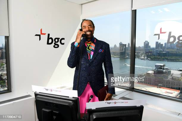 """Walt """"Clyde"""" Frazier attends Annual Charity Day Hosted By Cantor Fitzgerald, BGC and GFI - BGC Office – Inside on September 11, 2019 in New York City."""