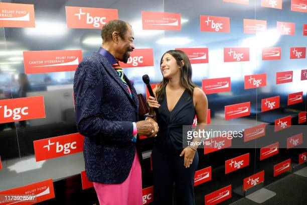 """Walt """"Clyde"""" Frazier attends Annual Charity Day Hosted By Cantor Fitzgerald, BGC and GFI - BGC Office - Arrivals on September 11, 2019 in New York..."""