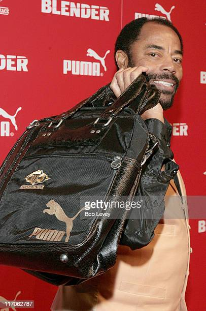 "Walt ""Clyde"" Frazier during PUMA and Blender Magazine Present Ludacris and Walt ""Clyde"" Frazier to Launch ""PUMA Suede"" - February 18, 2006 at Houston..."