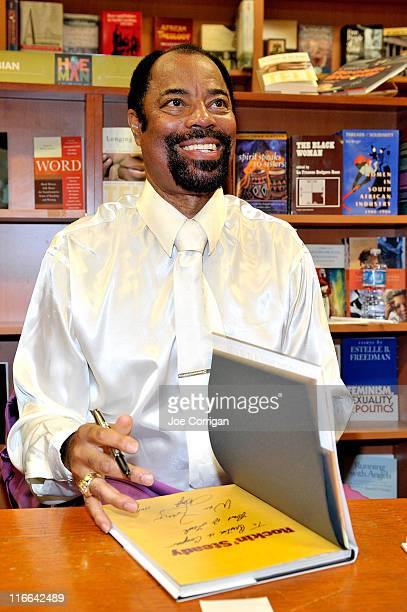 "Walt Clyde Frazier promotes his new book ""Rockin' Steady: A Guide To Basketball And Cool"" at the Hue-Man Bookstore & Cafe on June 16, 2011 in New..."