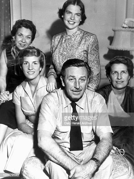Walt Disney American animator and showman 7 July 1952 ' Walt Disney the American animator and showman posing for the camera with his wife Lillian his...