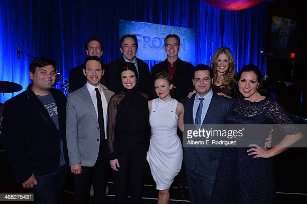 Walt Disney Animation Studios general manager Andrew Millstein producer Peter Del Vecho and directors Chris Buck and Jennifer Lee Songwriter Robert...