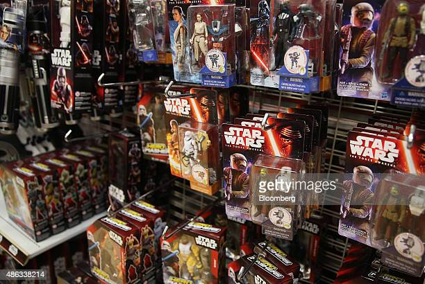 Walt Disney Co Star Wars movie franchise merchandise is displayed at a Target Australia Pty department store in the suburb of Parramatta in western...