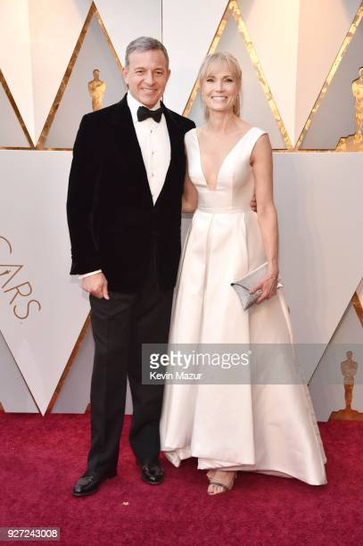 Walt Disney Company CEO Bob Iger and Willow Bay attend the 90th Annual Academy Awards at Hollywood Highland Center on March 4 2018 in Hollywood...