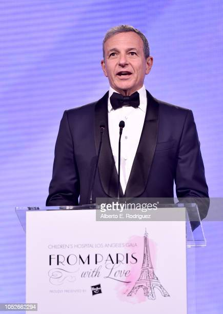 Walt Disney Company Chairman and CEO Bob Iger speaks onstage at the 2018 Children's Hospital Los Angeles 'From Paris With Love' Gala at LA Live on...