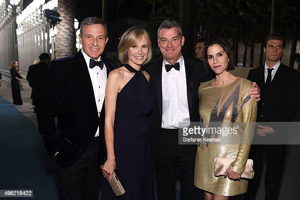 Walt Disney Company Chairman/CEO Bob Iger journalist Willow Bay LACMA Trustee Tony Ressler and actress Jamie Gertz attend LACMA 2015 ArtFilm Gala...