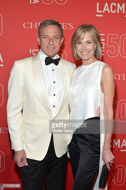 Walt Disney Company Chairman/CEO Robert Iger and LACMA Trustee Willow Bay attend the LACMA 50th Anniversary Gala sponsored by Christie's at LACMA on...