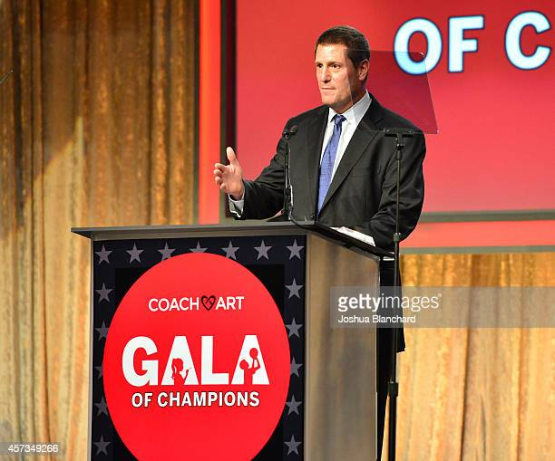 Walt Disney Company Executive Vice President Kevin Mayer is honored at the CoachArt Gala Of Champions at The Beverly Hilton Hotel on October 16 2014...
