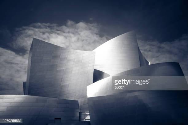 detalle de la arquitectura de walt disney concert hall, los angeles - frank gehry fotografías e imágenes de stock