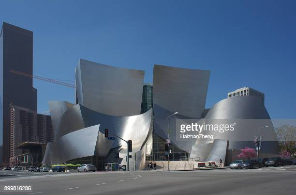 walt disney concert hall in los angeles, ca, usa - music halls stock pictures, royalty-free photos & images