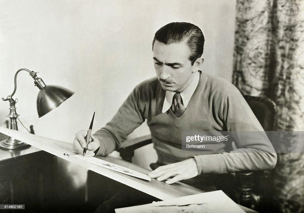 Walt Disney Drawing : News Photo