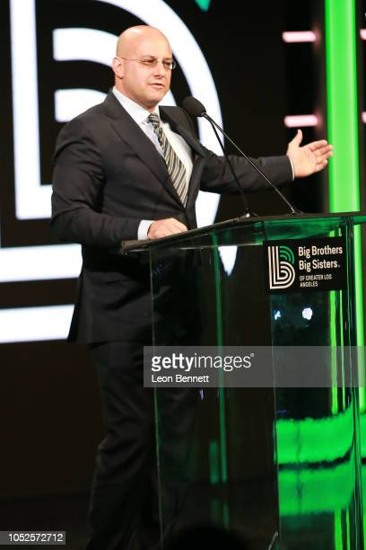 Walt Disney Man of the Year Chris Silbermann speaks to the crowd during Big Brothers Big Sisters Of Greater Los Angeles Big Bash Gala Inside at The...