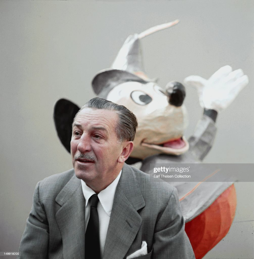 Walt Disney poses for a portrait circa 1955 in Los Angeles, California.