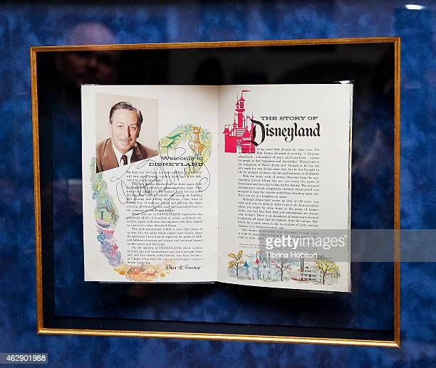 Walt Disney signed opening day guidebook Shown as part of the memorabilia from the 'The Story Of Disneyland' collection exhibit and auction at Van...