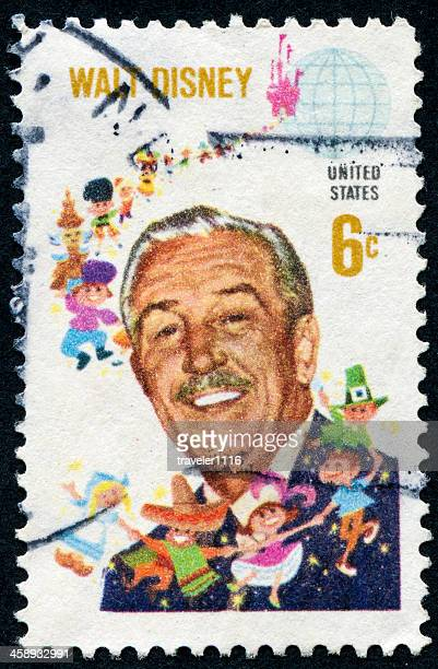 walt disney stamp - disney stock pictures, royalty-free photos & images