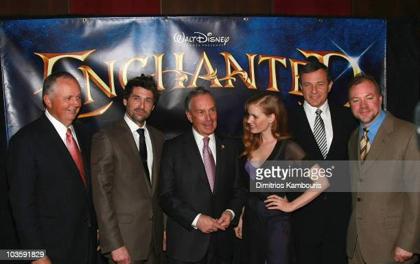 Walt Disney Studios Chairman Dick Cook Patrick Dempsey Mayor Michael R Bloomberg Amy Adams Walt Disney President and CEO Bob Iger and director Kevin...