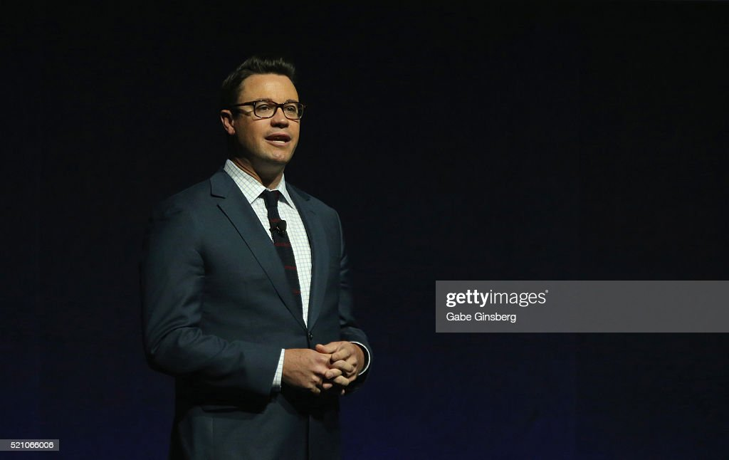 Walt Disney Studios EVP of Theatrical Distribution Dave Hollis speaks during the Walt Disney Studios' presentation at The Colosseum at Caesars Palace during CinemaCon, the official convention of the National Association of Theatre Owners, on April 13, 2016 in Las Vegas, Nevada.