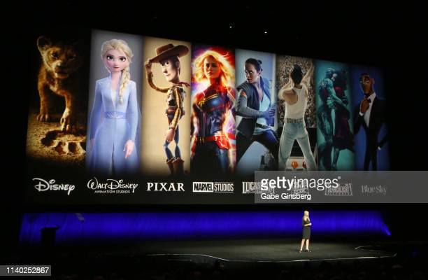 Walt Disney Studios Motion Pictures President of Walt Disney Distribution Franchise Management Business Audience Insights Cathleen Taff speaks during...
