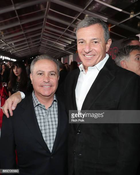 Walt Disney Studios President Alan Bergman and The Walt Disney Company Chairman and CEO Bob Iger at the world premiere of Lucasfilm's Star Wars The...