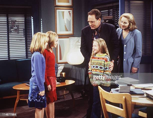Walt Disney Television via Getty Images ALL MY CHILDRENMary Kate and Ashley Olsen shown here with Alexis Manta and James Kiberd and Robin Matson...