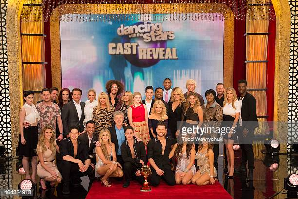 AMERICA Walt Disney Television via Getty Images announced the Dancing with the Stars 10th anniversary celebrity cast and professional pairings live...